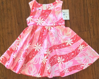 Hawaiian Print Girls Dress