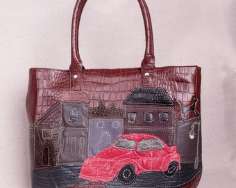 Leather bag Leather tote bag Laptop bag Tote Gift for her Shoulder bag Handbag Women gift Purse Leather tote Leather handbag Leather purse