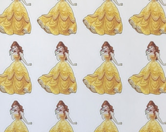 Disney princess Belle, beauty and the beast, princess birthday party, party favors