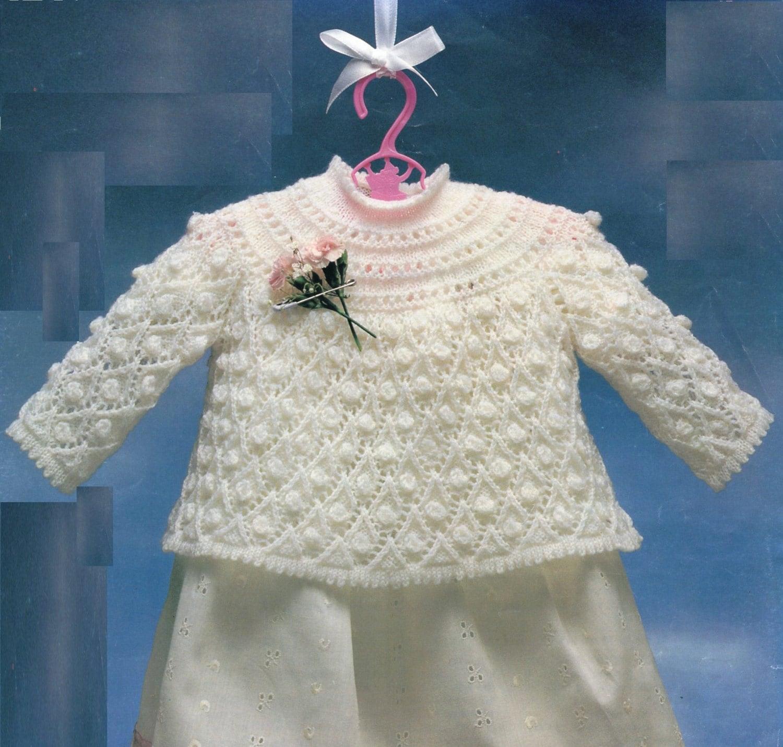 PDF Baby Knitting Pattern / Baby Angel Top / Vintage Knitting