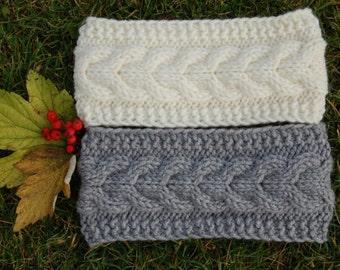 Knitted Headband, Hand knit headband, Knitted Ear Warmer, Hand knit hair accessory, knitted turban,  hand knit turban