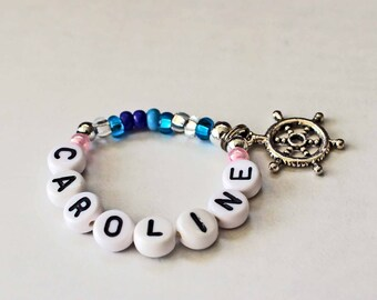 Stocking Stuffer for American Girl size Caroline Doll Bracelet PERSONALIZED American Girl Jewelry Matching Girl & Doll Bracelet