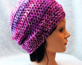merino sparkle custom blend hand spun wool/crochet adult hat/beanie
