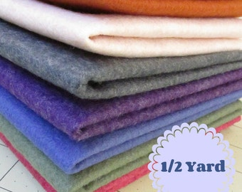 1/2 Yard Merino Wool blend Felt 35% Wool - Cut to order - You Choose Color