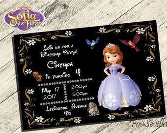 sofia the first invitation,Sofia the first Birthday Invitation,Invitación Princesa Sofia,Sofia the first Party,Sofia the first printable