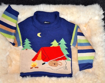Let's Go Camping Children's Cotton Sweater