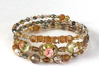 Roses Tensha Bead Bracelet