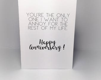 Happy Anniversary funny greeting card