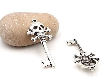 10 charms key skull matte 49mm
