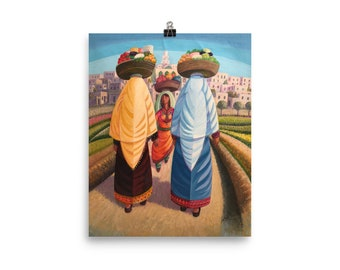 """Matte Print Museum Quality – """"The Fruits of Their Work"""" -- Middle Eastern Art"""