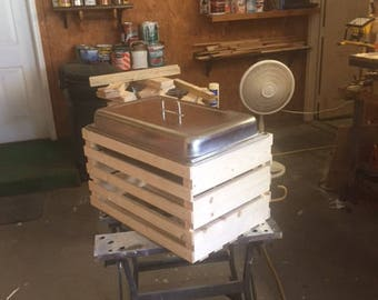 Unfinished Rustic Chafing Dish ( small wood )