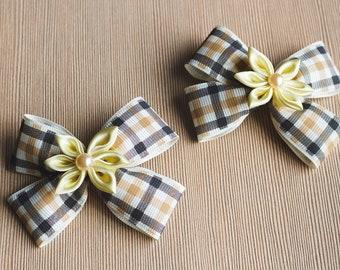 Kanzashi hair bow