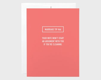 Marriage Tip 46 Wedding Card | Funny Wedding Card | Funny Anniversary Card | Funny Engagement Card