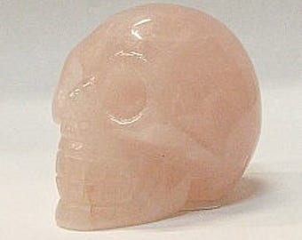 50mm Skull in Rose Quartz