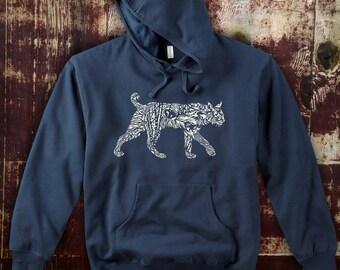 Blue Organic Cotton Bobcat Hoodie
