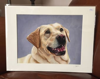 LABRADOR giclee signed print of my original oil painting