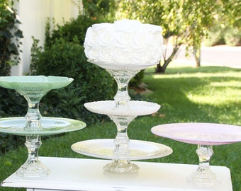 Wedding Cupcake-Cake Stand Cake Stand You Choose Size Vintage Reclaimed Made to Order