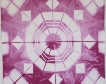 181 - Four Shibori hand dyed panels
