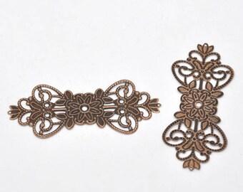 1 connector flower copper metal 7.4 * 3.1 cm