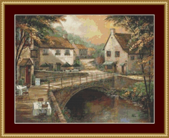 Michael's Pub And Grill Cross Stitch Pattern /Digital PDF Files /Instant downloadable