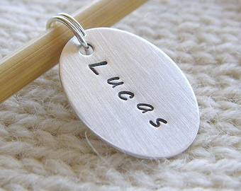 Personalized Knitting / Crochet Stitch Markers - Hand Stamped Sterling Silver - Removable Oval Charm in 6 Styles, Knit Notions Knitters Gift