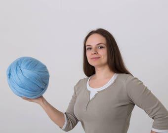 6 lbs/3 kg Giant wool. Wool roving. Merino wool yarn. Bulky wool. Chunky yarn. Super bulky yarn. Arm knitting. Combed top. Pure fibre