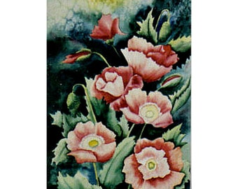 Field of Fire (Poppies)  - Matted Print