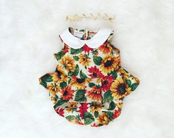 Baby girl Clothes, baby girl romper, baby clothes, baby romper, baby gift, birthday romper, birthday outfit, baby playsuit, photography prop
