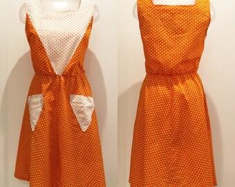 Vintage dress in cotton Kittelett years 70