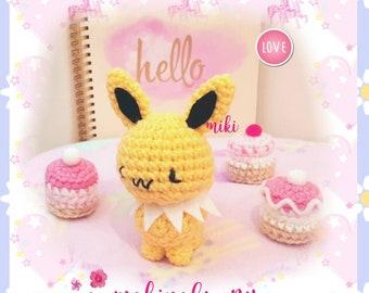Cute Jolteon plush, Amigurumi Jolteon, Jolteon pokemon plush, Kawaii Jolteon, Crochet Jolteon, Jolteon amigurumi, kawaii Jolteon plush