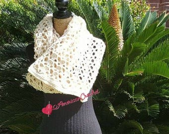 Fashionista Cowl Crochet Pattern 3-N-1