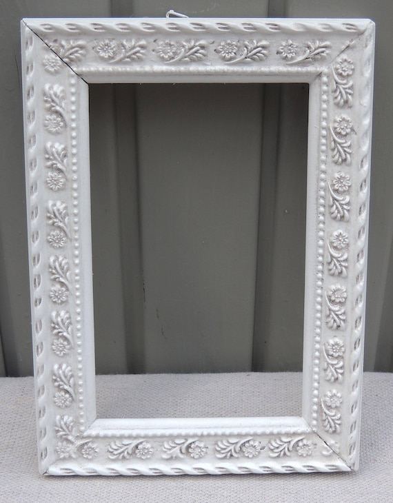 4x6 Ornate White Frames White Picture Frame with Glass and