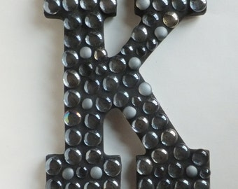 Mosaic Letter Sign, Black Bubble, Request your letter!