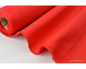 Heavy cotton twill red 300gr/m² .x 1 m