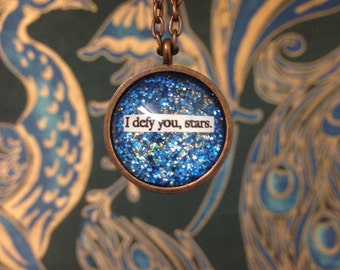 "Romeo and Juliet ""I Defy You, Stars"" Quote Necklace"