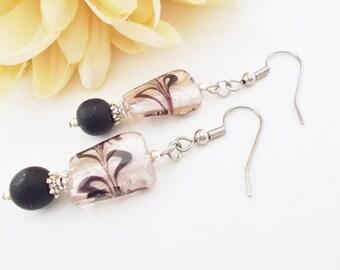 Boho Beaded Earrings, Clip On Earrings Dangle, Personalized Gift for Women, Bohemian Earrings, Gift for Teen Girl, Inspirational Earrings