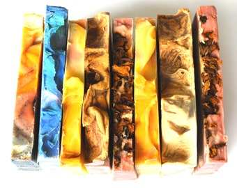 Soap Samples, set of 6 soap slices, vegan soap, cold process soap, handmade soap Australia, artisan soap