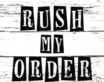 RUSH MY ORDER & Get To The Front Of The Line w/ Expedited Handling