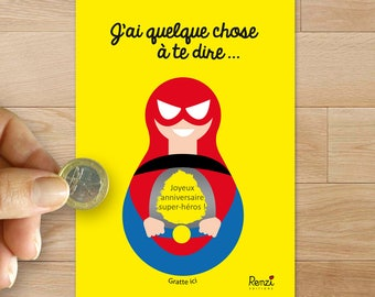 Scratch card / birthday / superhero / boy