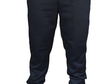 Mens Plain Fleece Jogger Drawstring Sweatpants Black/Gray/Charcoal