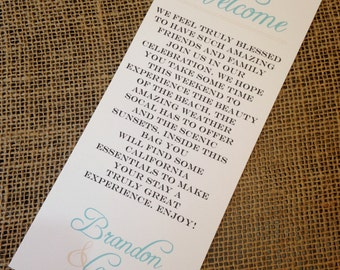 25 Danced the Night Away Collection Wedding Welcome Notes