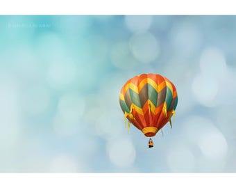 Hot Air Balloon Photography Dreamy Photography Nursery Decor Carnival Photography Landscape Photography Gender Neutral Kids Room Decor
