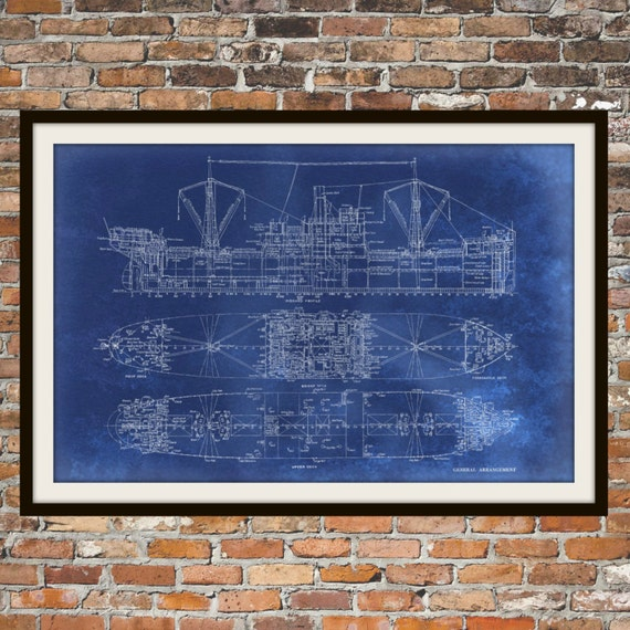 Blueprint art of ship technical drawings engineering drawings malvernweather Choice Image