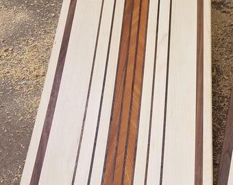 Maple, Walnut and Mahogany large cutting board (A)