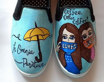 Gilmore Girls hand painted shoes