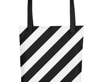 Black & White Stripes Tote bag - Like the Off White Virgil Abloh pattern