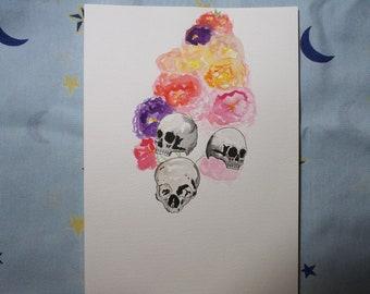 Dragon skull flower