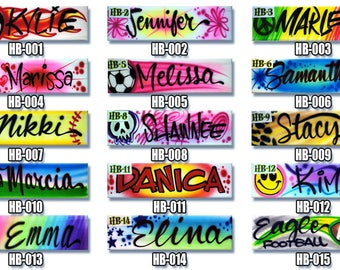 Airbrush Headbands * Custom * Your Name * Soccer * Softball