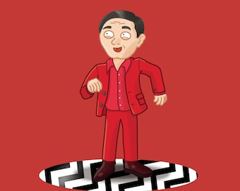 Twin Peaks Greeting Card - The Man From Another Place - Gum - Dancing - Black Lodge - Quote - Blank Inside