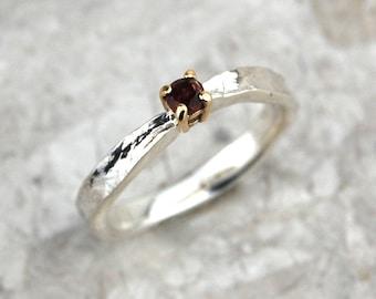 January Birthstone Ring | Garnet Birthstone Ring | Delicate Garnet Ring | January Birthday Gift | Red Stone Ring | Alison Moore Designs